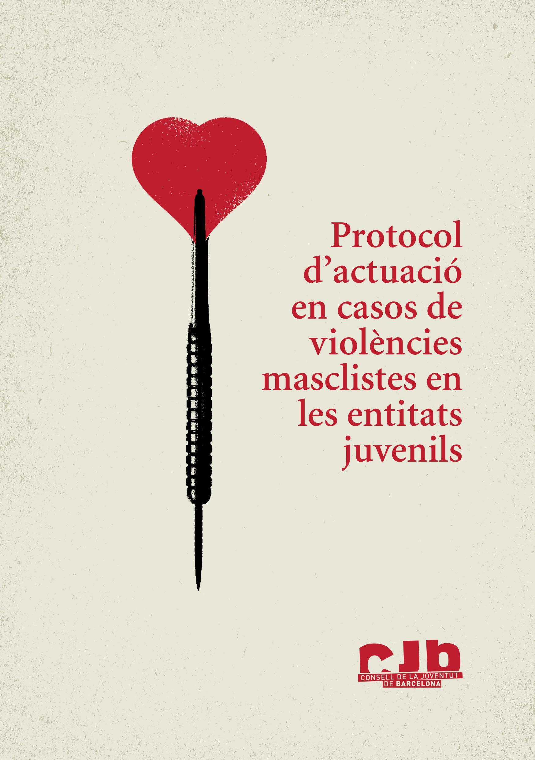 Portada del protocol d'actuació en casos de violències masclistes en les entitats juvenils