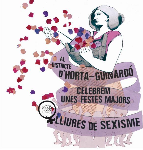 Logo del Projecte. Geganta bugadera del districte d'Horta-Guinardó
